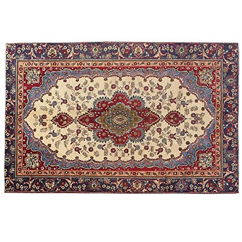 11' x 7.2' Antique floral design rug, Vintage traditional carpet, Floor Classy Carpet, Classical Fancy Handmade Rug, Red and Blue Turkish Rug.Code S0101492 (Aubusson Rooster)