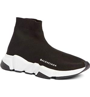 BestVIPP Balenciaga Speed Trainer Sneaker Black White Unisex Hombre Mujer Balenciaga Zapatillas de Running Zapatos