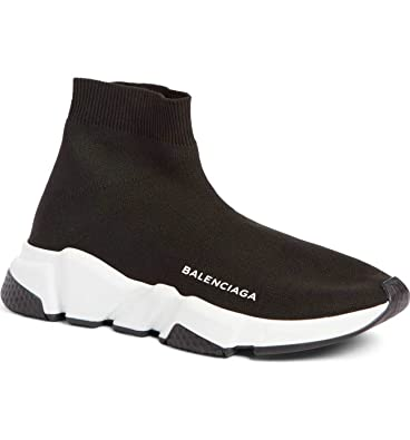 a393b66ff63 TOPSHOD Unisex Mens Womens Balenciaga Speed Trainer Sneaker Black White   Amazon.co.uk  Shoes   Bags