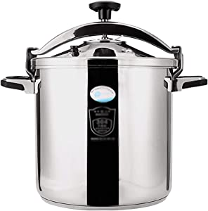 Z-COLOR Stainless Steel Pressure Cooker Outdoor Explosion-proof Large Capacity Pressure Cooker Non-stick Cooker Induction Cooker Gas Stove Family Kitchen Hotel (Size : 7L)