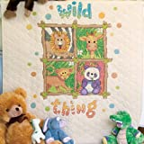 Dimensions Needlecrafts Stamped Cross Stitch, Wild Thing Quilt