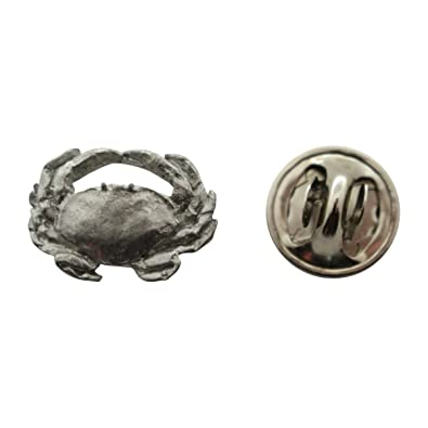 Dungeness Crab Mini Pin ~ Antiqued Pewter ~ Miniature Lapel Pin ~ Sarahu0027s  Treats U0026 Treasures