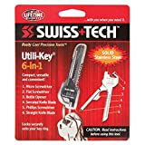 Swiss+Tech ST66676M2 Utility Key Multitools (6-in-1) for Keychain for Auto, Camping, Hardware - 2 Pack, Polished Stainless Steel