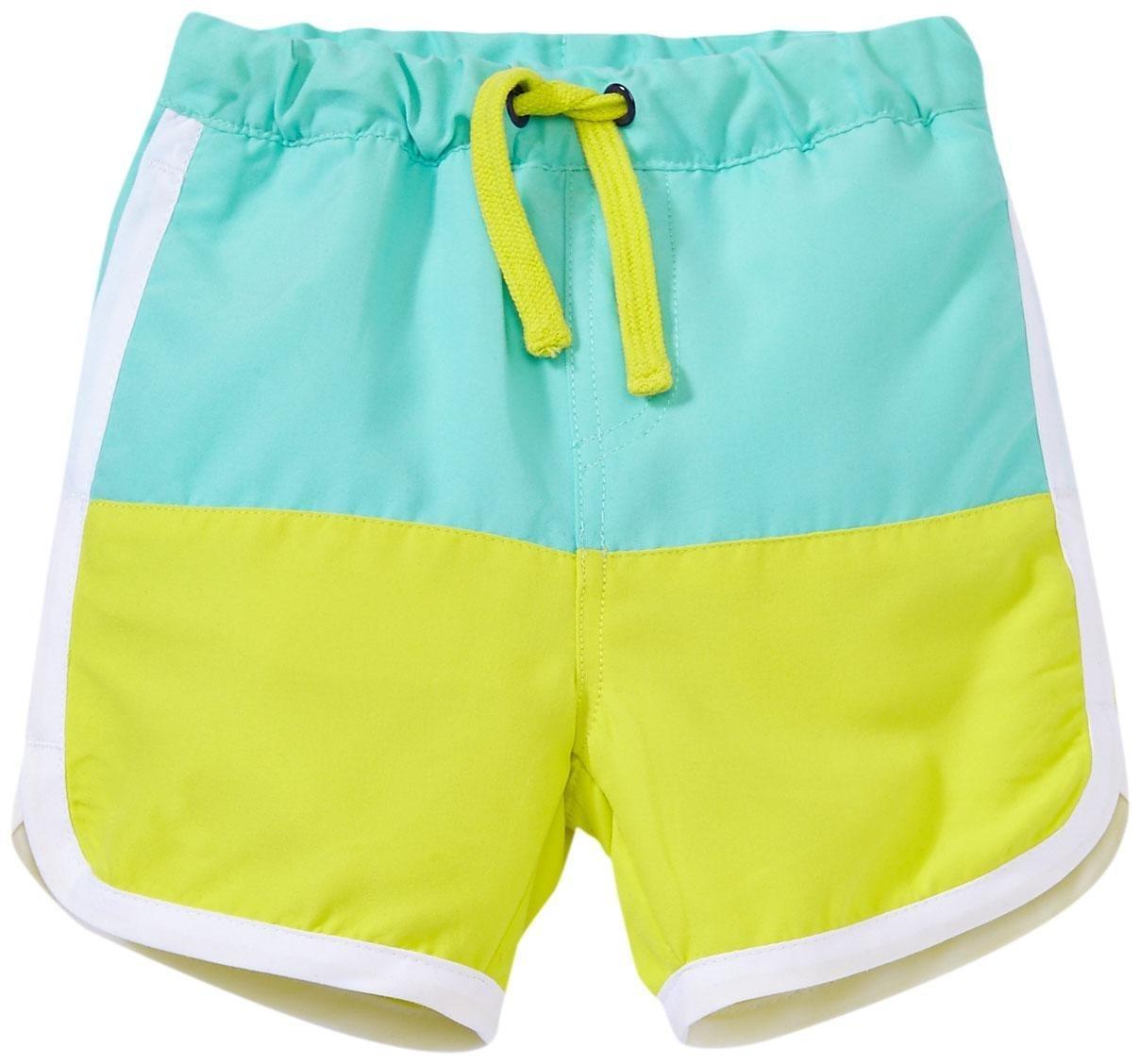 Egg by Susan Lazar Boys' Color Block Swim Shorts, Aqua, 12 Months by Egg by Susan Lazar