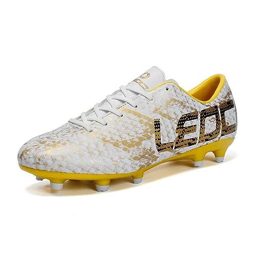 LEOCI Men Boys Kids Soccer Shoes Outdoor Spikes Football Boots Cleats Children Training Football Boots