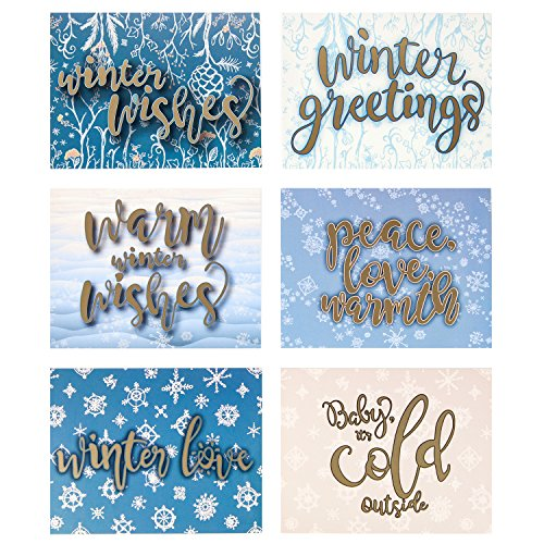 Greeting Cards w/ Envelopes (30 ct) Bulk Christmas Greeting Cards. Assorted Designs for Christmas Winter Holiday Greetings. Blank Cards Fun for Seasons Greetings! 4.25 x 5.5 in (A2) Spread X-mas Joy!