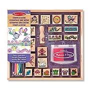 Amazon Lightning Deal 80% claimed: Melissa and Doug - 12424 - Stamp-A-Scene-Fairy Garden