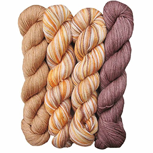 Living Dreams Slinky Malinky DISCOUNT PACK Sock Yarn USA Hand Dyed Superwash Merino Tencel Fingering Weight Self-Striping, Siddhartha by Living Dreams Yarn