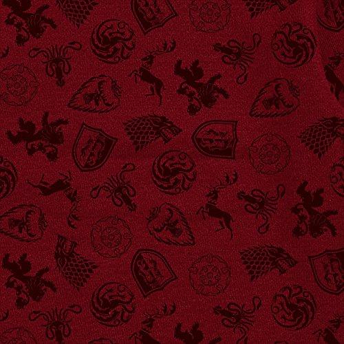 Game of Thrones Damen Kapuzen Jacke Targaryen Fire and Blood Logo von Elbenwald Grau Rot Mehrfarbig gt88yZNB9