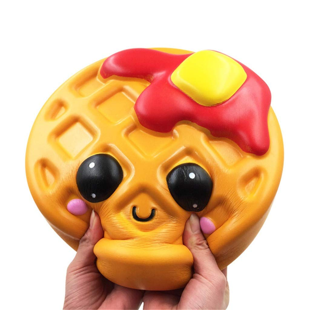 Libison Adorable Kawaii Jumbo Waffle Slow Rising Cream Scented Slow Rising Scented Fun Collection Stress Relief Toy by Libison (Image #5)