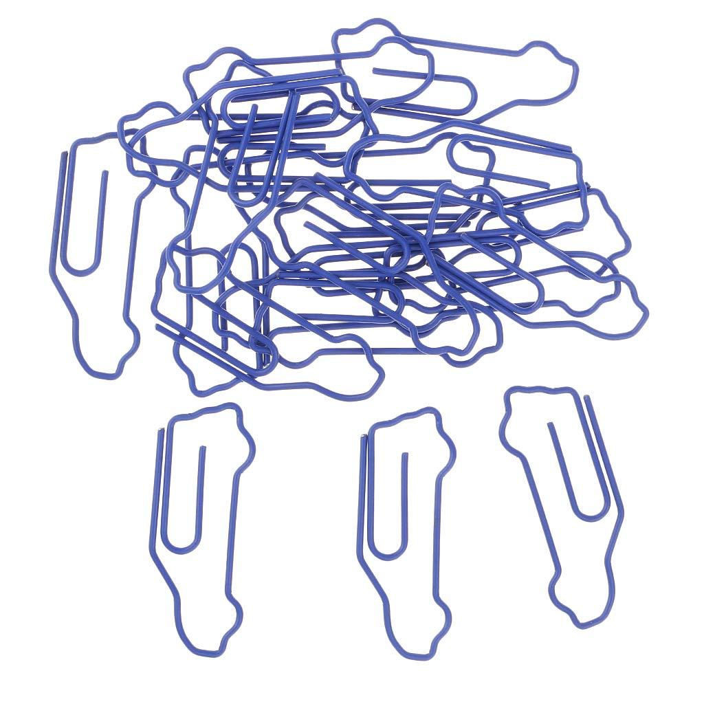 Homyl 20 St/ück Blaue Auto Form Deko B/üroklammern Motiv Heftklammern Lesezeichen Clips Metall Klammern f/ür B/üro Schule Zuhause
