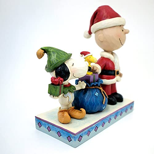 Enesco Peanuts by Jim Shore Charlie Brown in Santa O Figurine