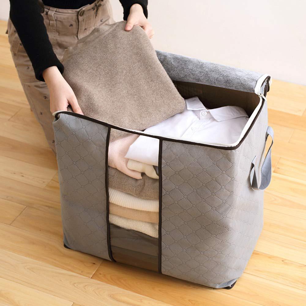 Bolsa de almacenamiento de tejido no tejido engrosamiento a prueba de humedad bolsa de almacenamiento de ropa de juguete a prueba de polvo.Gris Local Makes A Comeback