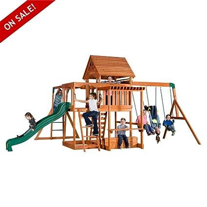 Delicieux Wooden Swing Sets Cedar Kids Playcenter Baby Set Outdoor Backyard Garden  Children Furniture Secure Games