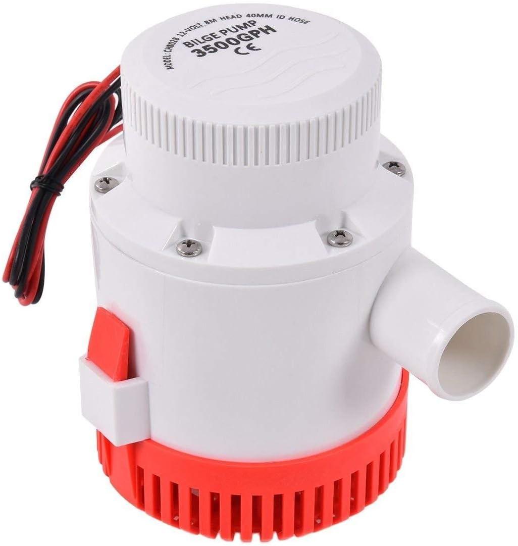 Marine Boat 700 GPH ABS Automatic Bilge Pump 12V Straight Hose Adaptor