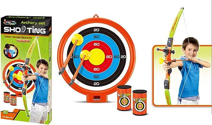 ALLESOK Pfeil und Bogen Kinder Set Schie/ßen Bogenschie/ßen Spielzeug Set f/ür Kinder ab 3 Jahren