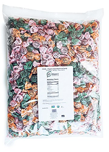 GoOrganic Organic Hard Candy | Strawberry, Mango, Watermelon | Certified Organic, Gluten Free, Non GMO, Kosher, No Corn Syrup | 5 Pound Bag of Bulk Candy (Bulk Syrup Corn)