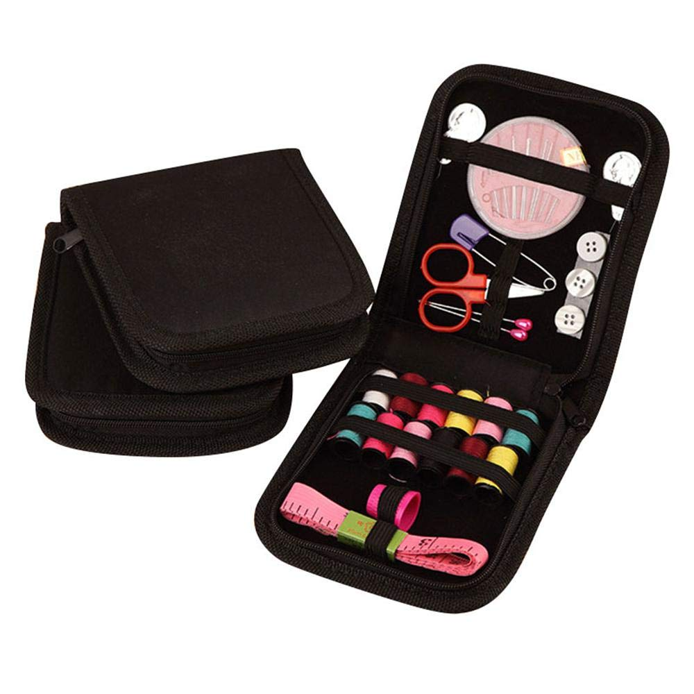 Mini Sewing Kit for Adults Kids Emergency Beginner Travel Camping, Sew Set Supplies with Scissors,Thimble,Thread,Needles,Tape Measure,Carrying Case and Accessories AOLVO