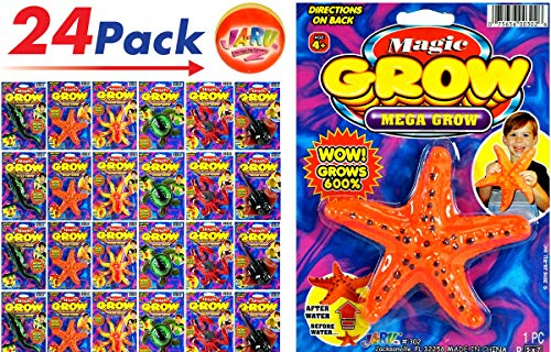 JA-RU Magic Grow Sea Creatures (24 Assorted) and 1 Bouncy Ball Item #302-24pCollectable
