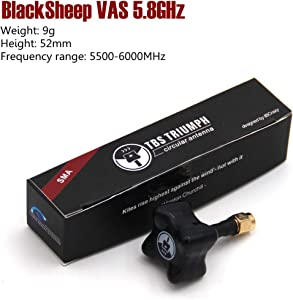 LEACO 1 Pieces Short TBS Triumph Team Blacksheep VAS 5.8GHz Circular Polarized Triumph Antenna Black Sheep for FPV Racing Drone