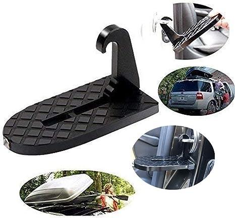 Youzpin ECOSWAY 1 Pedal Plegable para Puerta de Coche, Escalera de Coche para el Techo del Coche, piquetas para Puerta para Coche Jeep SUV, con función de Martillo de Seguridad (Negro): Amazon.es:
