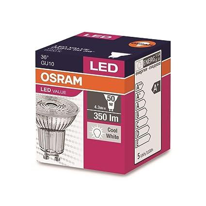Bombilla OSRAM Gu10 LED 4,3w 865 6500K