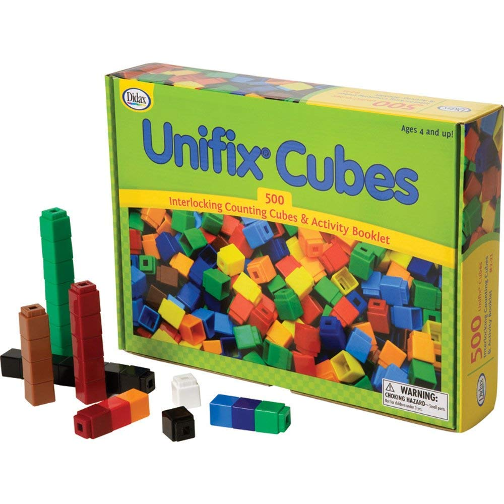 Unifix Cubes, Ten Assorted Colors, Set of 500 (Limited Edition)