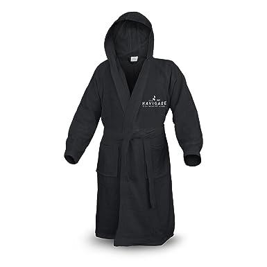 Accappatoio Spugna Unisex NAVIGARE Uomo / Donna Nero 100 % Cotone (Nero    M): Amazon.it: Abbigliamento
