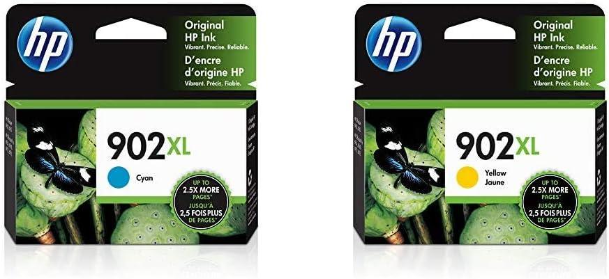 HP 902XL | Ink Cartridge | Cyan | T6M02AN & 902XL | Ink Cartridge | Yellow | T6M10AN