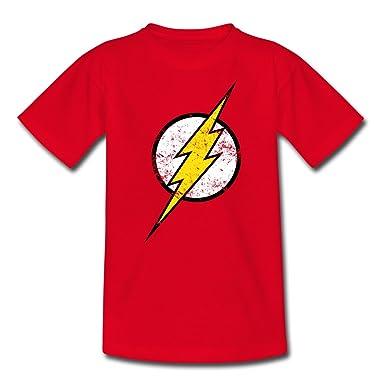 63c68960ee252 Spreadshirt DC Comics Ligue De Justice D Amérique Flash Logo T-Shirt Ado   Amazon.fr  Vêtements et accessoires