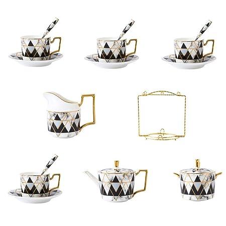 RTG Juego de Tazas de café expreso de Taza de té Inglesa de patrón ...