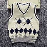 Happy Cherry Kids V-Neck Waistcoat Cable-knit