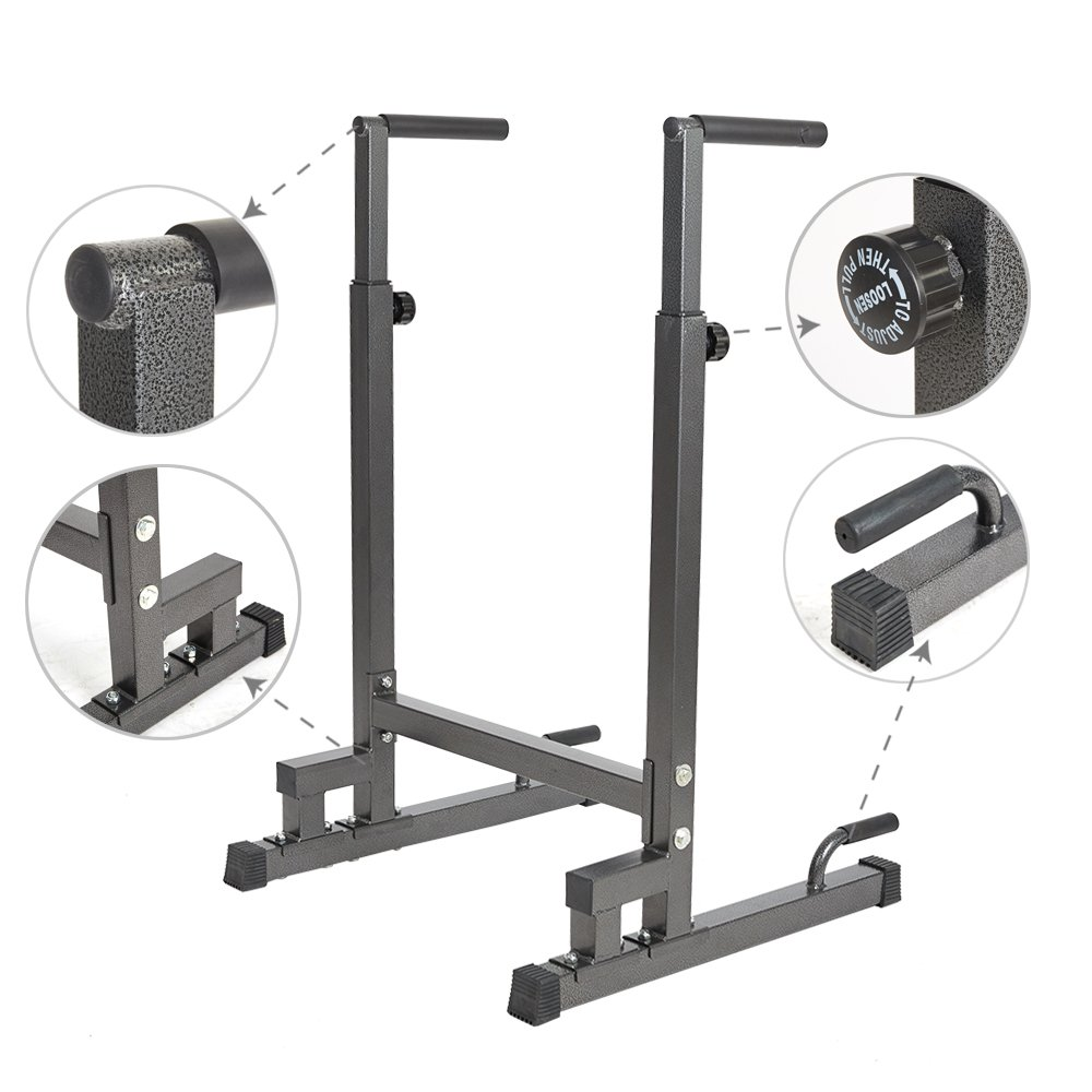 Livebest Heavy Duty Adjustable Power Tower Multi-Function Strength Training Dip Stand Workout Station Fitness Equipment for Home Gym by Livebest (Image #5)