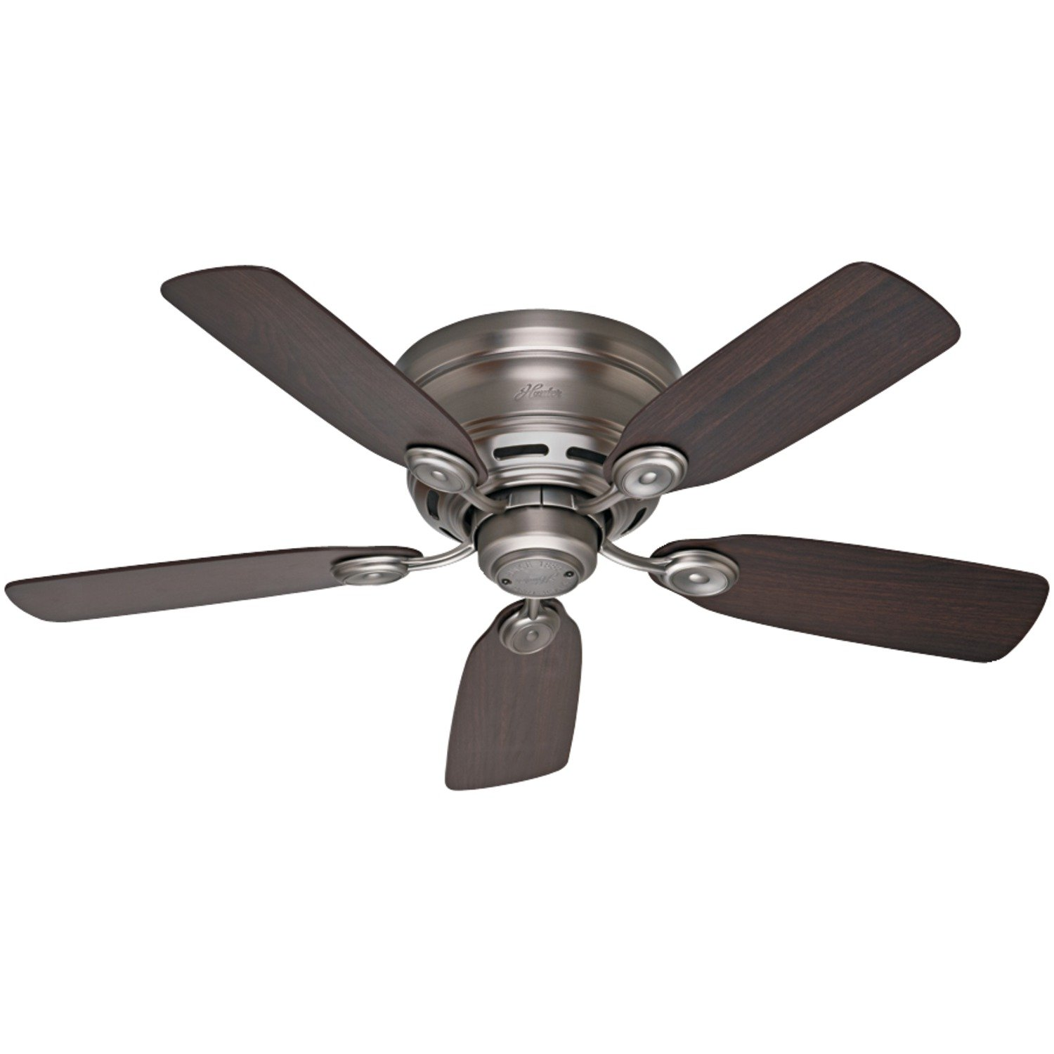 fans hunter white studio ceiling series dp oak with amazon bleached inch fan blades com