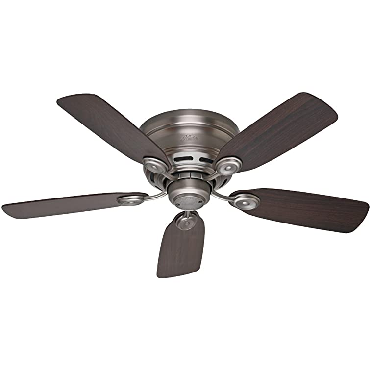 Hunter 51060 Low Profile IV 42-Inch Ceiling Fan, Antique Pewter