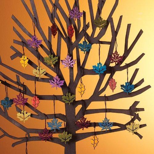 Ornament Leaves - Design Ideas Poplar Wood Ornaments (Arden)