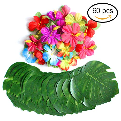 60 Pcs Tropical Party Decoration Supplies 8