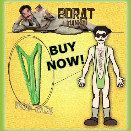 [Borat Mankini Costume Adult One Size Fits Most] (Banana Hammock Adult Mens Costumes)