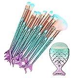 AccMart Makeup Brushes, 11PCS Mermaid Make Up Highlighter Eyebrow Eyeliner Blush Cosmetic concealer Foundation Brushes