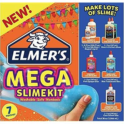Elmer's Mega Slime Kit Glow in The Dark and Gem-Like Slime: Toys & Games