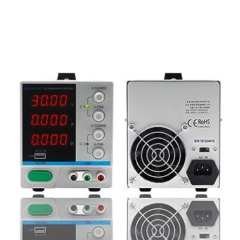 DC Power Supply Variable, 0-30V 0-5A, 4-Digital LED Display
