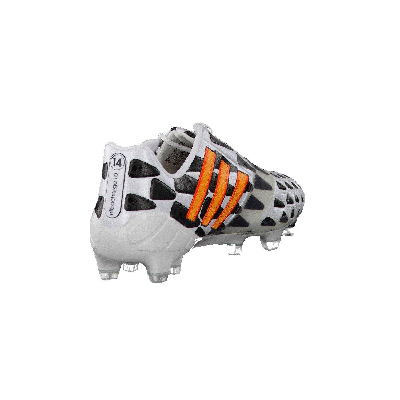 size 40 1bf7c 888b4 Nitrocharge 1.0 FG (World Cup) Football Boots - Adult - White Neon  Orange Black  Amazon.co.uk  Sports   Outdoors