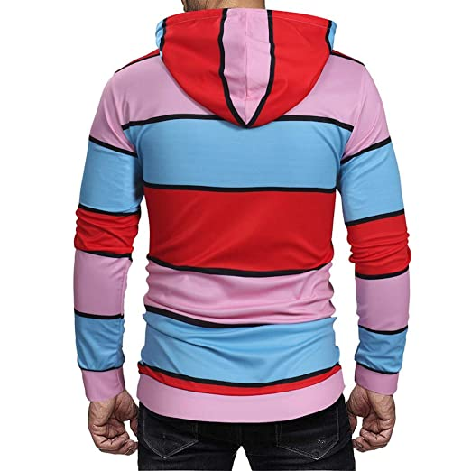 Amazon.com: Striped Hoodies Men, Corriee FLL Long Sleeve Camouflage Printed Pullover Outwear Mens Fashion Hooded Sweatshirts: Clothing