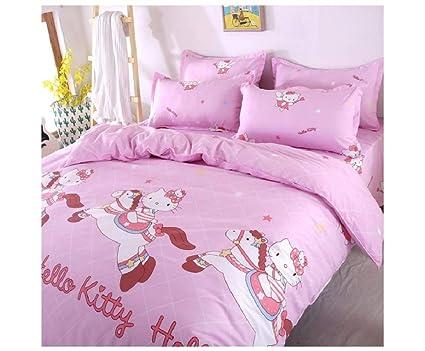Funda Nordica Lidl.Gio027 Caballo Hello Kitty 3 Piezas Juego De Cama Infantil 3 Piezas