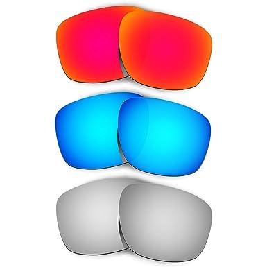 e2a7bcd9ce2 Hkuco Mens Replacement Lenses For Oakley Sliver Red Blue Titanium Sunglasses
