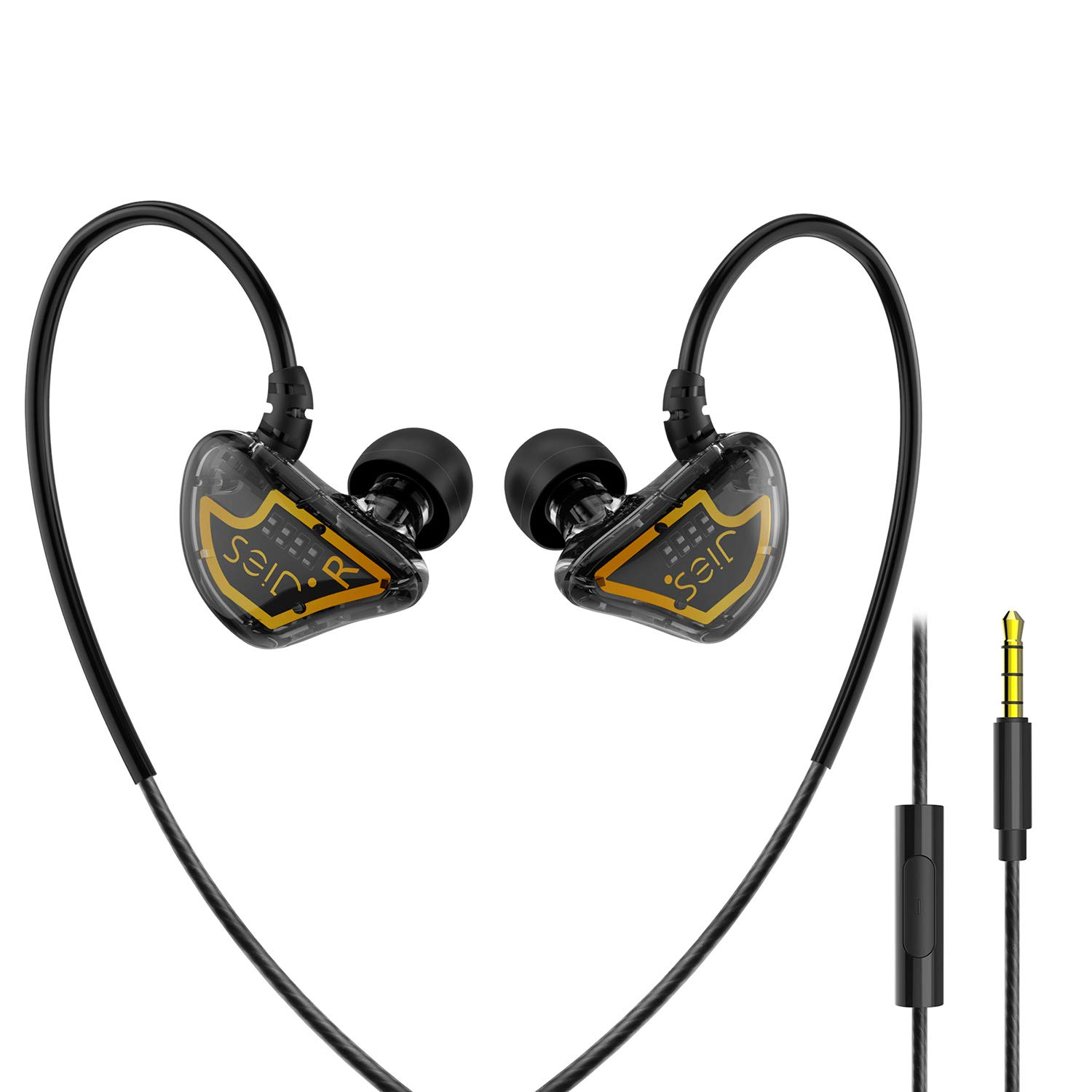 in Ear Monitor, Hifi Stereo Over Ear Monitor Headphones Noise Cancelling Earphones with Microphone Wired Earbuds for Musicians Singer Sport Headphones for iPhone, iPad, iPod, Smartphone and Mp3 Player