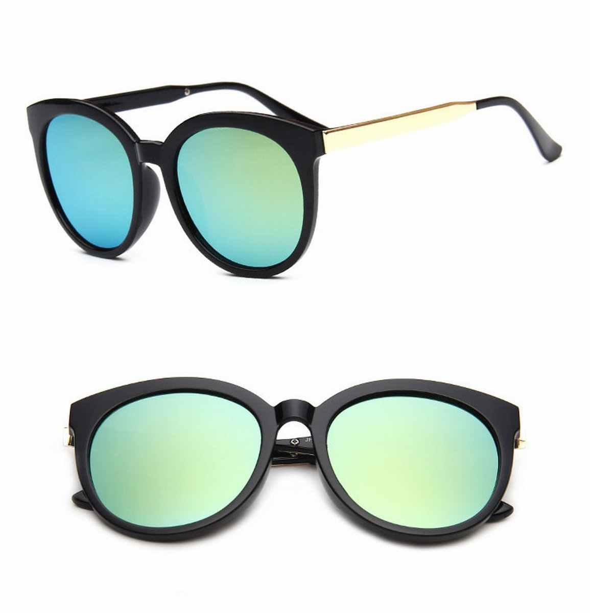 Retro Große rahmen sonnenbrille helle farbe Quecksilber Gläser ...