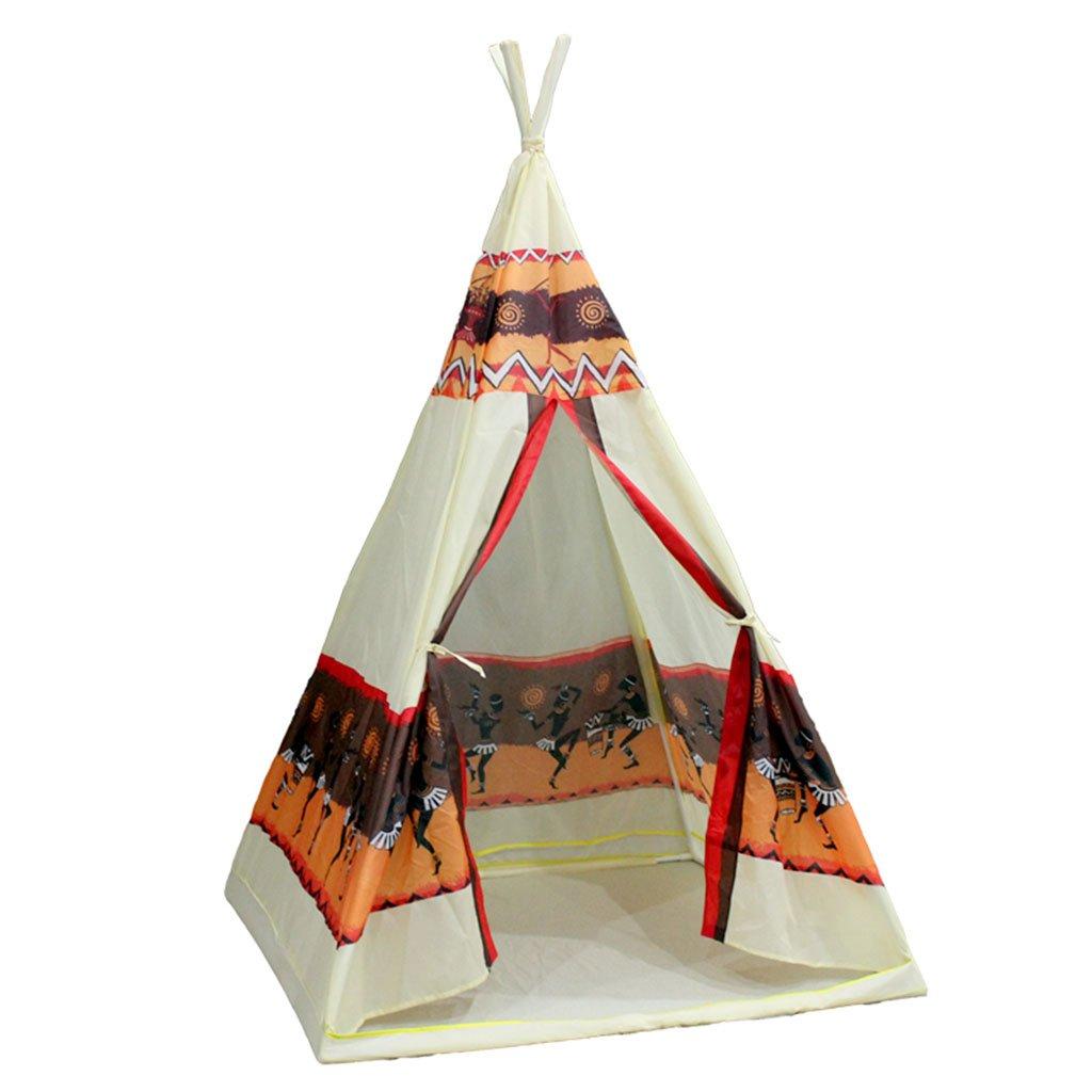 Zhao Dekorations-Zelt, Kindergeburtstagsgeschenk-Großes Spiel-Haus-Spielzeug-Zelt-Innenim freienspiel-Turm-Form-Spiel-Haus 98  98  140CM