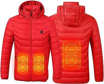 SUPTEMPO Chaqueta con Calefacción,Chaqueta Eléctrica con Calefacción Ropa Calentada para Hombre y Mujer con Carga USB Invierno Abrigo cálido térmica para Ciclismo para Camping Senderismo Esquí Pesca