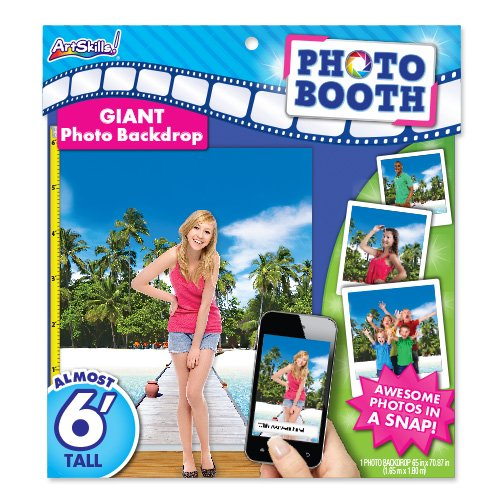 ArtSkills Giant Photo Backdrop, Beach, 65 x 70.87 Inches (PA-2249)